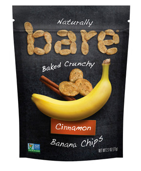 Bare Natural, Cinnamon Banana Chips, 2.7 Oz (12 Count)