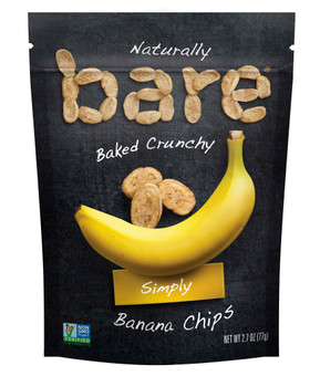 Bare Natural, Banana Chips, 2.7 Oz (12 Count)