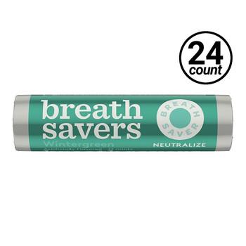 Breath Savers, Wintergreen, 0.75 oz. Rolls (24 Count)