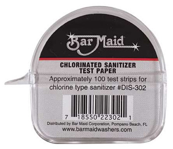 Bar Maid, Sani-Maid Paper Chlorinated Sanitizer Test, 100-test strips, (12 count)