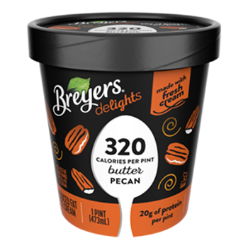 Breyers Delights, Low Fat Butter Pecan Ice Cream, Pint (1 Count)