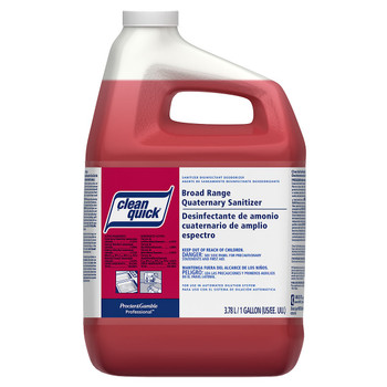 Clean Quick, Broad Range Quarternary Sanitizer Concentrate, Closed Loop, 1 gal (3 count)