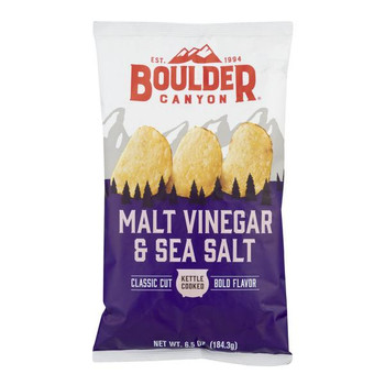 Boulder Canyon Natural Foods, Malt Vinegar & Sea Salt, 6.5 oz. Bag (12 Count)