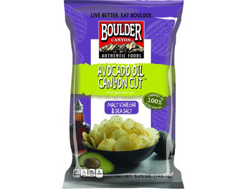 Boulder Canyon Authentic Foods, Avocado Oil, Malt Vinegar & Sea Salt  , 5.25 oz. Bag (12 Count)