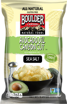 Boulder Canyon Authentic Foods, Avocado Oil, Sea Salt, 5.25 oz. Bag (12 Count)