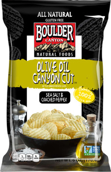 Boulder Canyon Natural Foods, Olive Oil, Sea Salt & Cracked Pepper, 6 oz. Bag (12 Count)