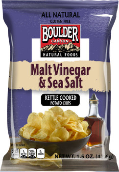 Boulder Canyon Natural Foods , Malt Vinegar & Sea Salt, 1.5 oz. Bag (55 Count)