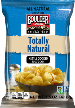 Boulder Canyon Natural Foods , Totally Natural, 1.5 oz. Bag (55 Count)
