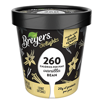 Breyers Delights, Low Fat Vanilla Bean Ice Cream, Pint, (1 Count)