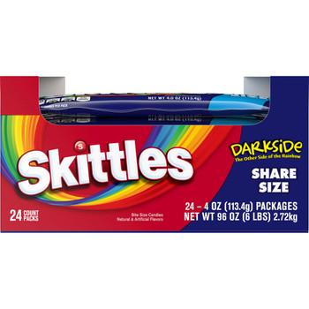 Skittles Darkside, KING SIZE 4.0 oz. packs (24 count)