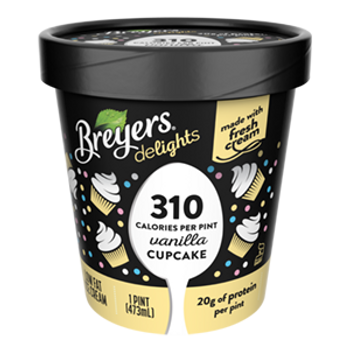 Breyers Delights, Low Fat Vanilla Cupcake Ice Cream, Pint (1 Count)