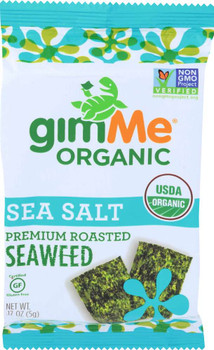 Gimme Organic, Premium Roasted Seaweed, Sea Salt .17 oz (160 Count)