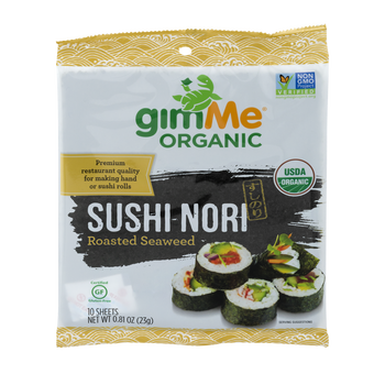 Gimme Organic, Sushi Nori Roasted Seaweed,  .81 oz (12 Count)