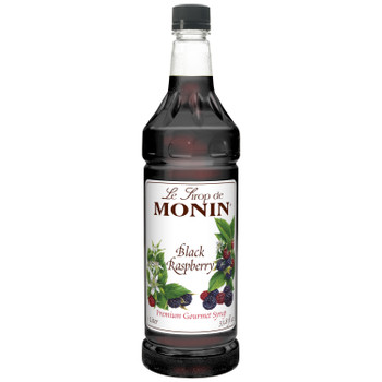 Monin, Black Raspberry Syrup, 1 L.  (4 Count)