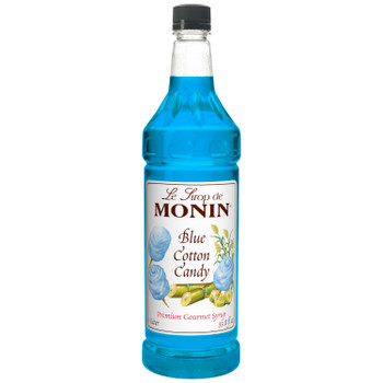 Monin, Blue Cotton Candy Syrup, 1 L.  (4 Count)