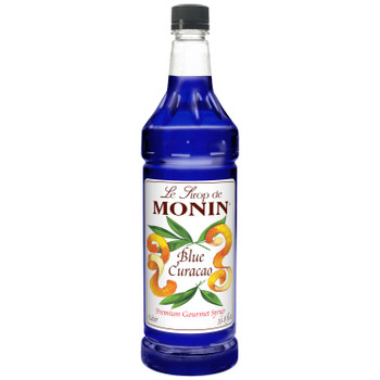 Monin, Blue Curacao Syrup, 1 L.  (4 Count)
