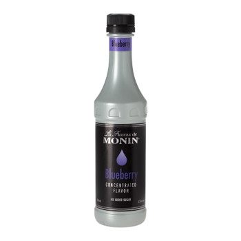 Monin, Blueberry Concentrate Flavor, 375 ml.  (4 Count)