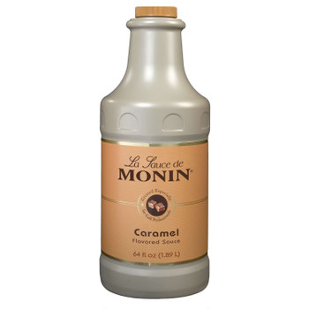 Monin, Caramel Sauce, Kosher, 64 oz.  (4 Count)