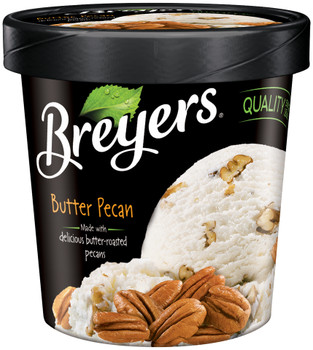 Breyer's, Butter Pecan All Natural, Ice Cream, Pint (1 Count)