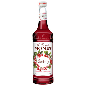 Monin, Cranberry Syrup, 750 ml.  (12 Count)