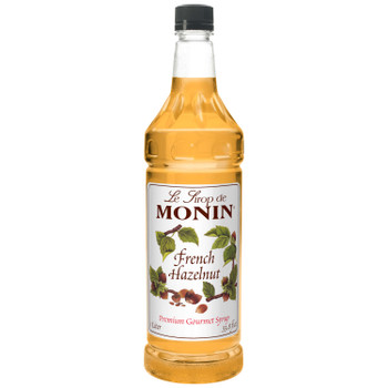 Monin, French Hazelnut Syrup, 1 L. (4 Count)