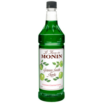 Monin, Granny Smith Apple Syrup, 1 L. (4 Count)