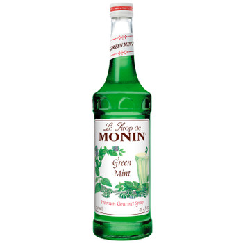 Monin, Green Mint Syrup, 750 ml.  (12 Count)