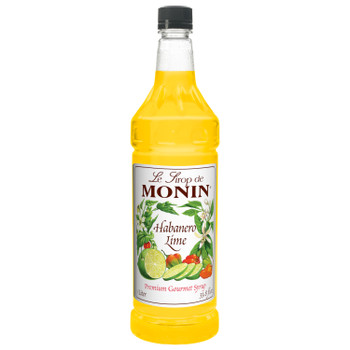 Monin, Habanero Lime Syrup, 1 L. (4 Count)