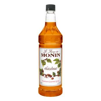 Monin, Hazelnut Flavor Syrup, 1 L. (4 Count)