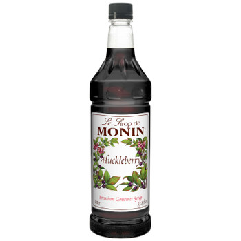 Monin, Huckleberry Syrup, 1 L. (4 Count)