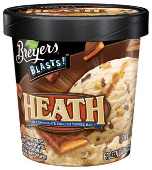 Breyer's, Heath English Toffee, Ice Cream, Pint (1 Count)