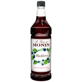 Monin, Kosher Blackberry Syrup, 1 L. (4 Count)
