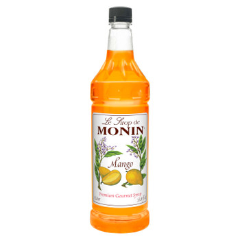Monin, Kosher Mango Syrup, 1 L. (4 Count)
