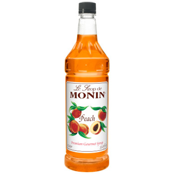 Monin, Kosher Peach Syrup, 1 L. (4 Count)
