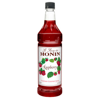 Monin, Kosher Raspberry Syrup, 1 L. (4 Count)