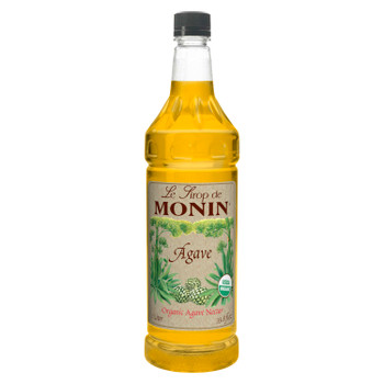 Monin, Organic Agave Nectar Syrup, 1 L. (4 Count)