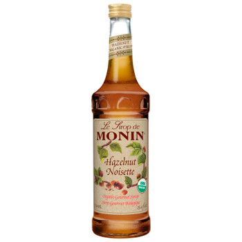 Monin, Organic Hazelnut Syrup, 750 ml.  (6 Count)