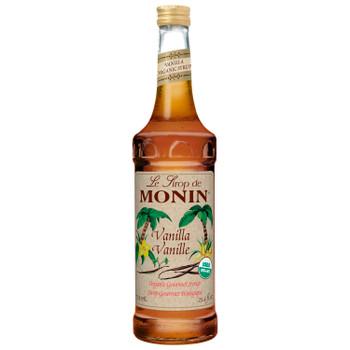 Monin, Organic Vanilla Syrup, 750 ml.  (6 Count)