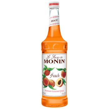 Monin, Peach Syrup, 750 ml.  (12 Count)