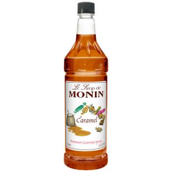 Monin, Premium Caramel Syrup, 1 L. (4 Count)