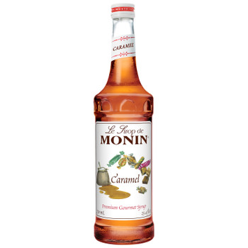 Monin, Caramel Syrup, 750 ml.  (12 Count)