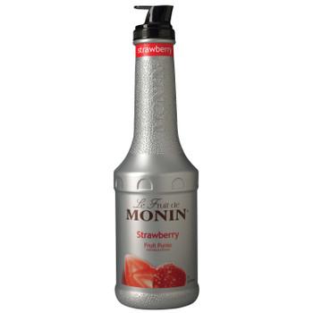 Monin, Strawberry Fruit Puree, 1 L.  (4 Count)