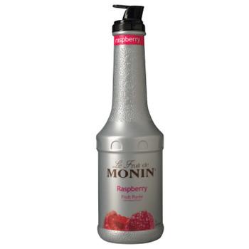 Monin, Raspberry Fruit Puree, 1 L.  (4 Count)