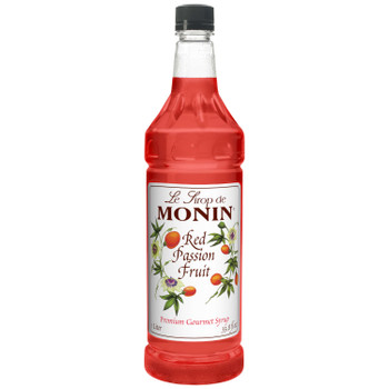 Monin, Red Passion Fruit Syrup, 1 L. (4 Count)