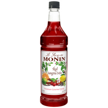 Monin, Red Sangria Mix, 1 L. (4 Count)
