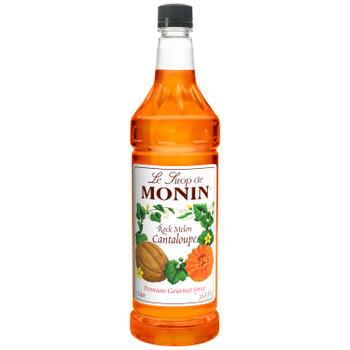 Monin, Rock Melon Cantaloupe, 1 L. (4 Count)