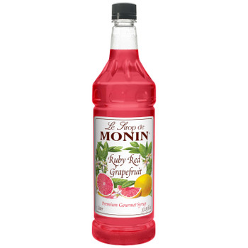 Monin, Ruby Red Grapefruit Syrup, 1 L. (4 Count)