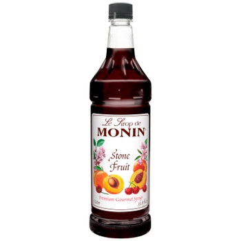 Monin, Stone Fruit Syrup, 1 L. (4 Count)