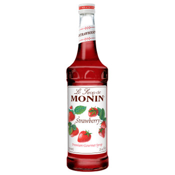 Monin, Strawberry Syrup, 750 ml.  (12 Count)