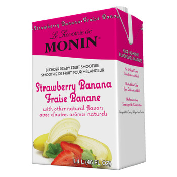 Monin, Strawberry Banana Smoothie, 46 oz.  (6 Count)